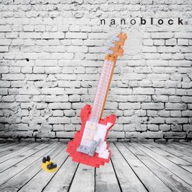 nanoblock chitarra elettrica rossa