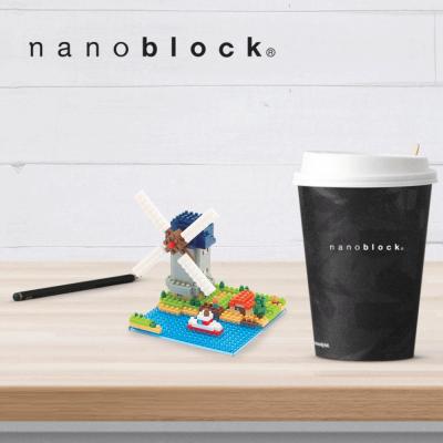NBH-043 Nanoblock Mulino a vento di Kinderdijk Elshout