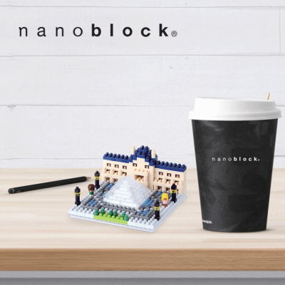 NBH-086 Nanoblock Museo del Louvre