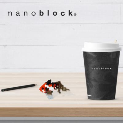 NBC-224 Nanoblock Pesce rosso giapponese nero